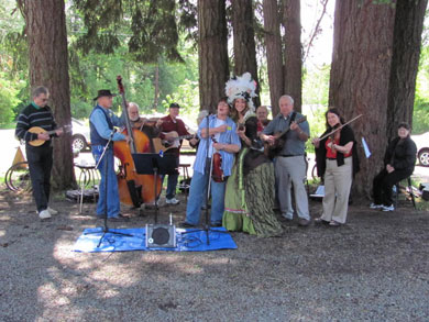 Marie Slugtoinette and the Old Time Fiddlers on Opening Day