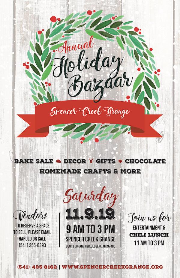 2019 Grange Holiday Bazaar