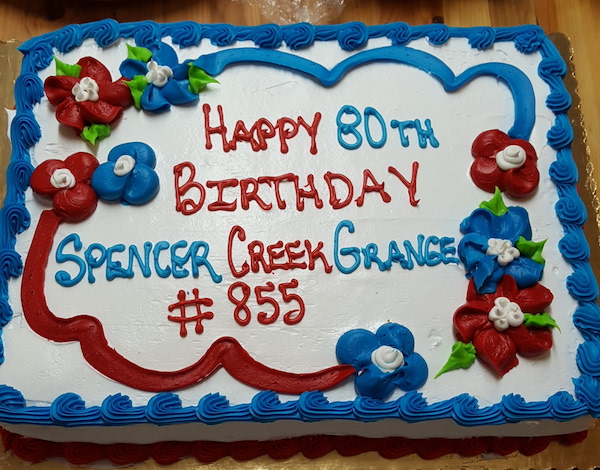 Spencer Creek Grange celebrates it's 80th Birthday