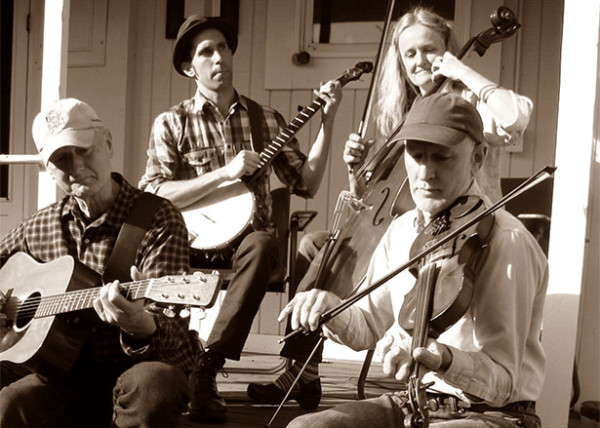 The Slippery Slope String Band plays April 1st at the Spencer Creek Grange