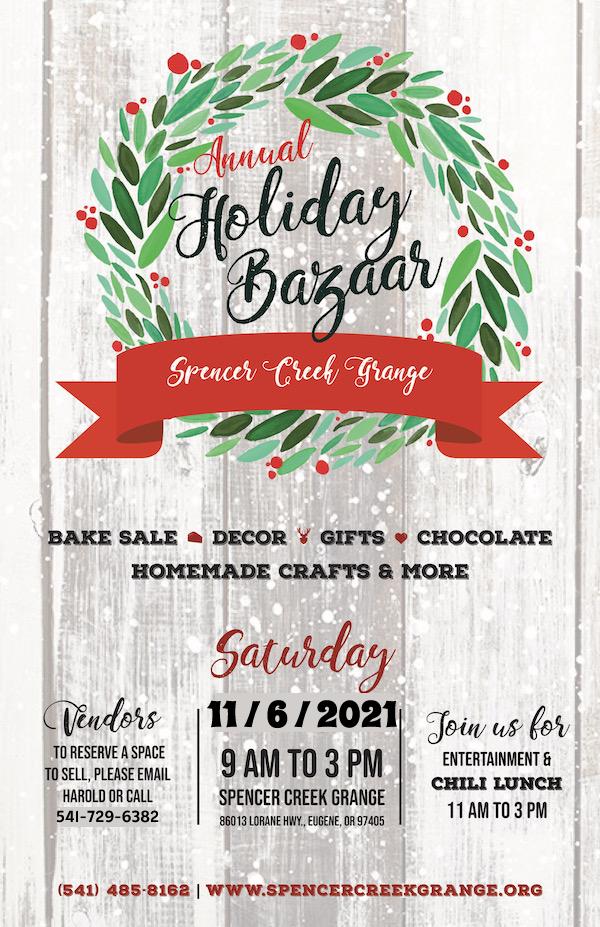 2021 Grange Holiday Bazaar